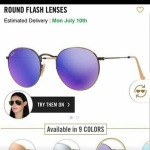 Round Flash Lens Ray Ban Sunglasses
